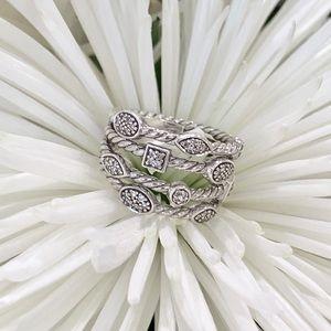 """David Yurman diamond """"Confetti"""" ring"""